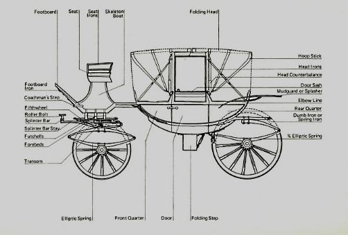 Four-wheeled carriage anatomy