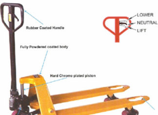 Pallet truck trolly structure