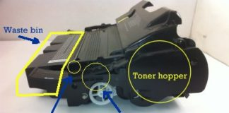 Toner cartridge structure