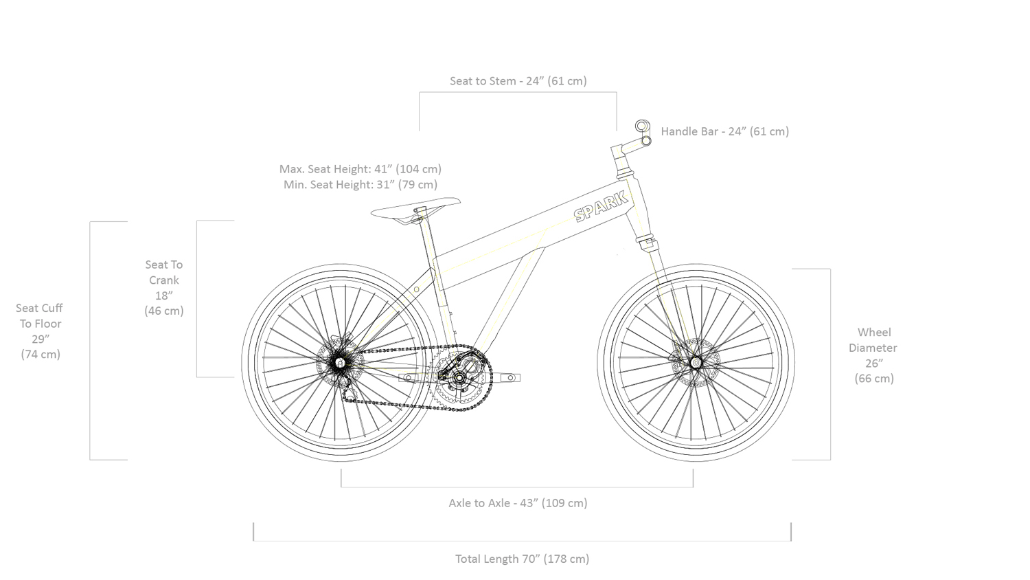 Bike structure length diagram