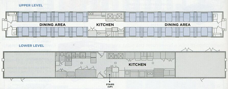 Amtrak diagram superliner dining car