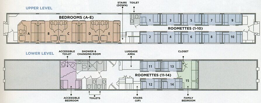Amtrak diagram superliner sleeper area