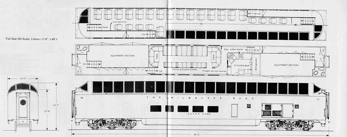 Milwaukee road Superdome diagram