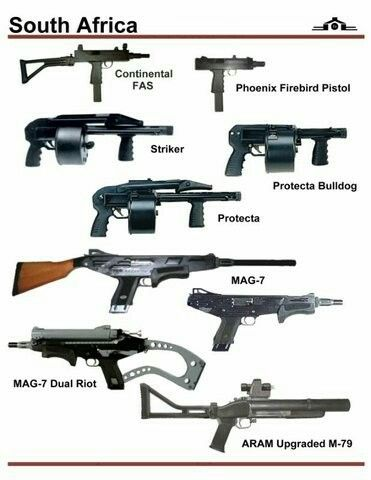 South Africa guns different types