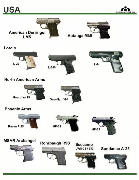 USA pistol different types