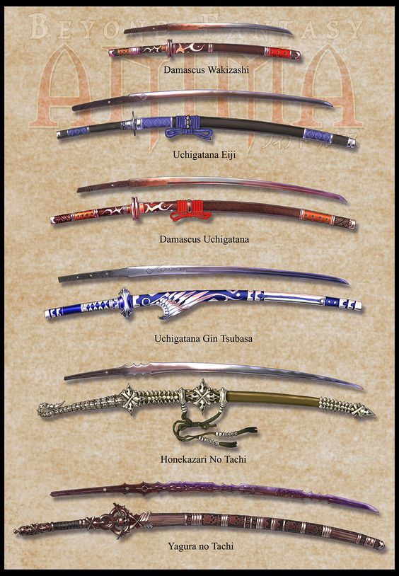 Traditional Japanese Swords Types