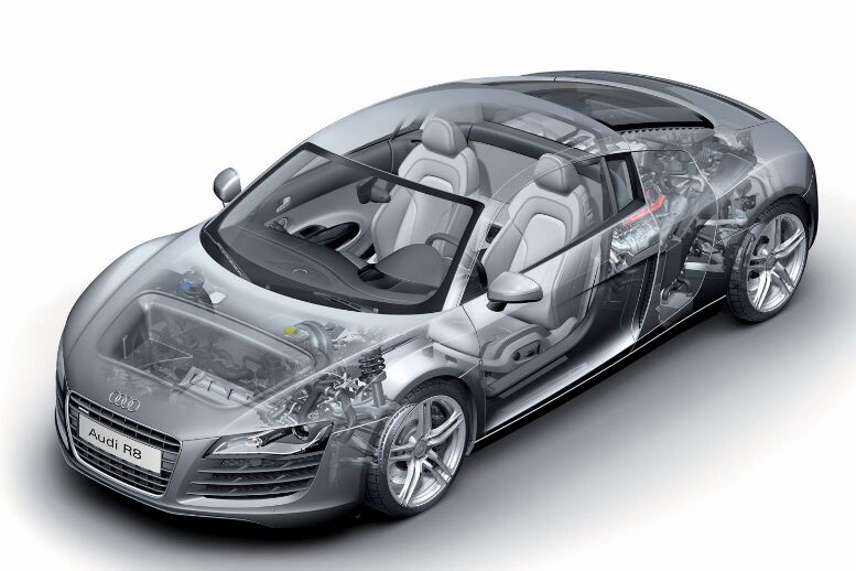 Audi R8 Car Inside View