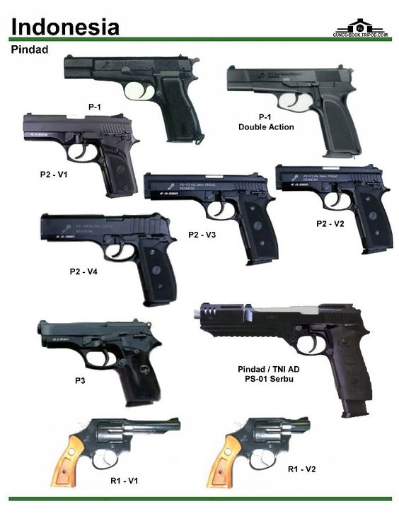 Indonesia Handguns Types