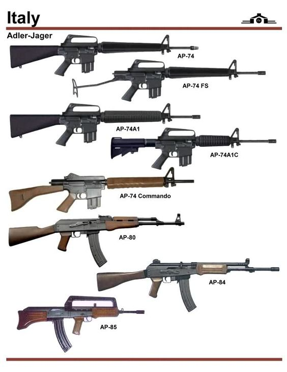 Italy Sub-machine Guns Types