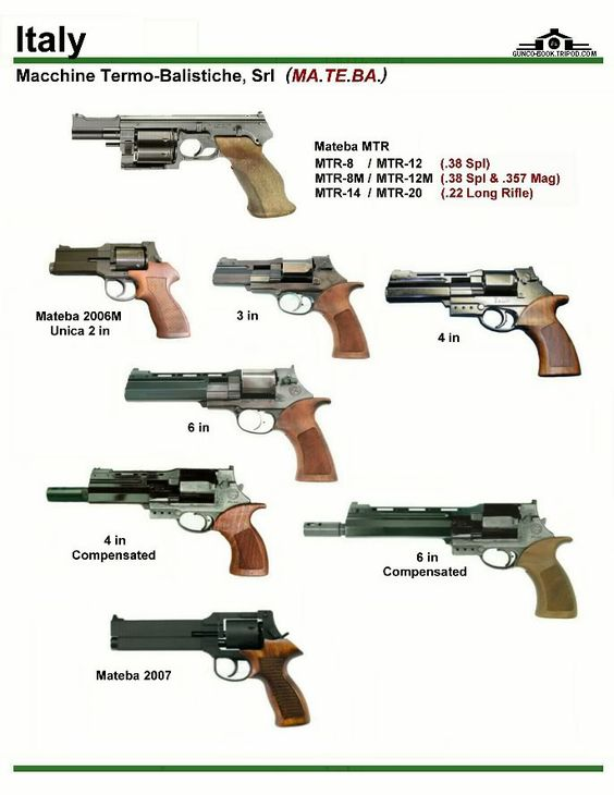 Italy Handgun Different Types
