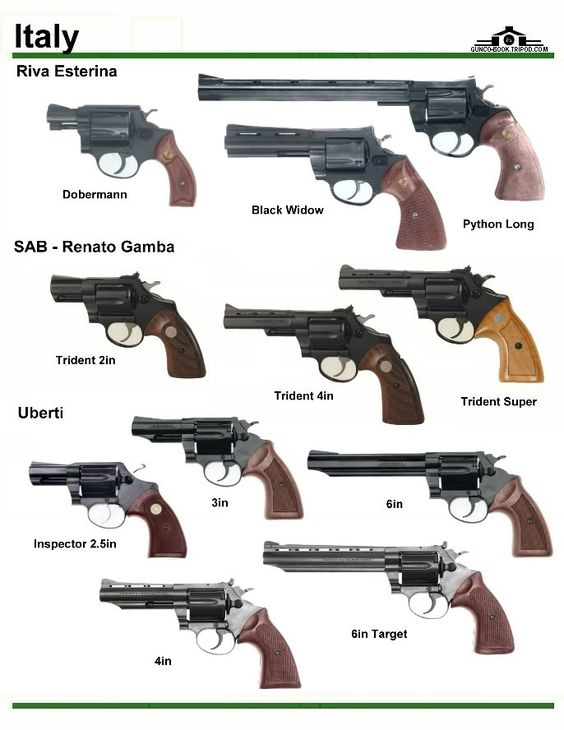 Italy Bulldog Handgun Types