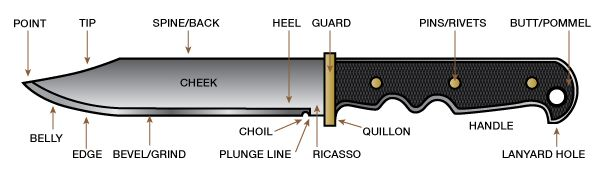 Fixed Blade Knife Anatomy