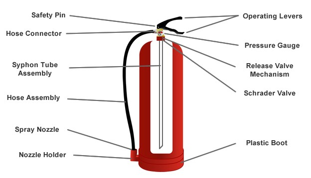 Fire Extinguisher Gross Anatomy Diagram
