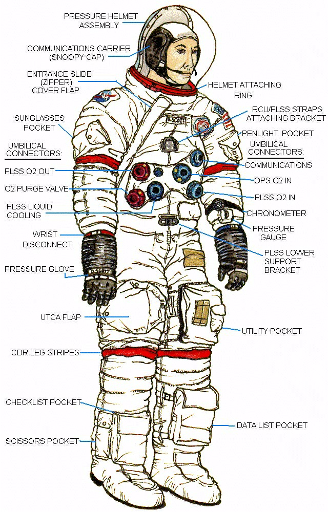 Space Suit Pressure Garment Diagram