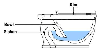 The Bowl Siphon Structure Diagram