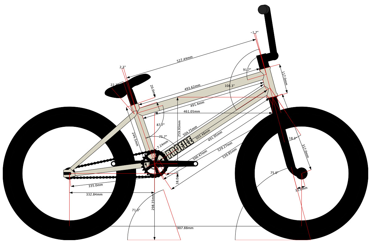 Bike Parts Length Diagram