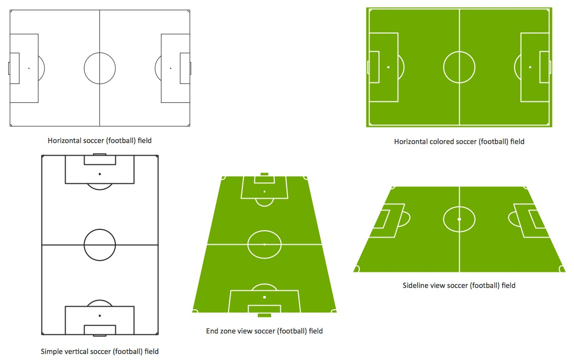 A Soccer Football Field Design Diagram