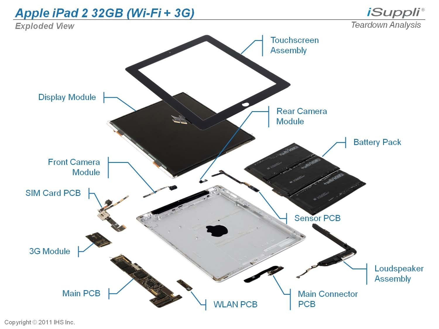 Apple Ipad 2 32gb Exploded View Diagram