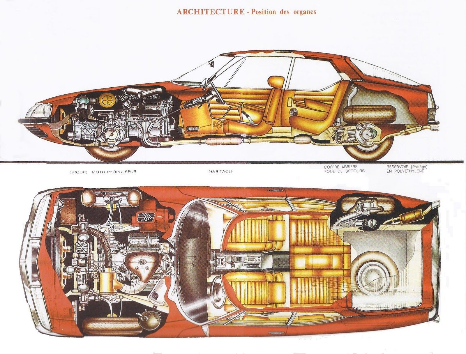 Architecture Car Sectional Structure