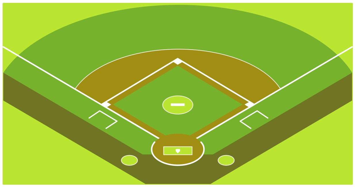 Diagram Baseball Field Corner View