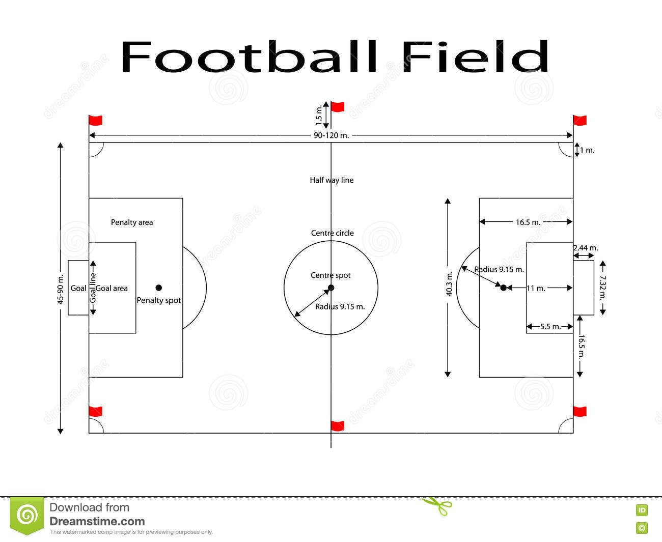 Football Pitch Diagram