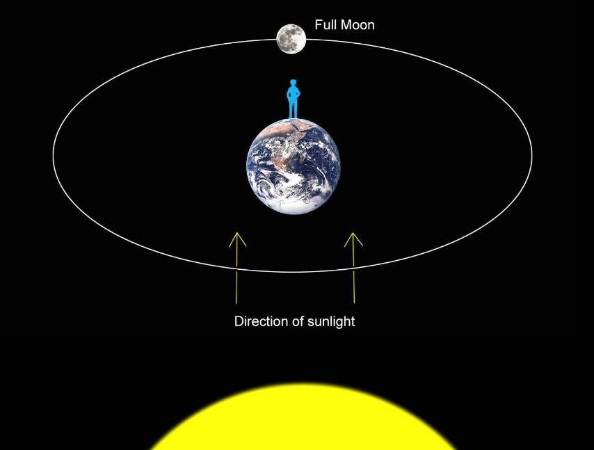 Full Moon Orbit Diagram