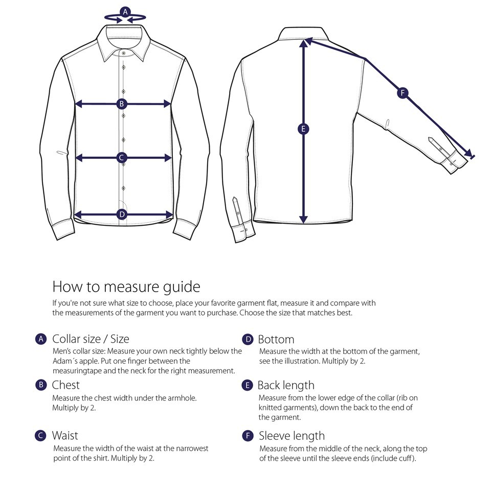 How To Measure The Shirt Diagram