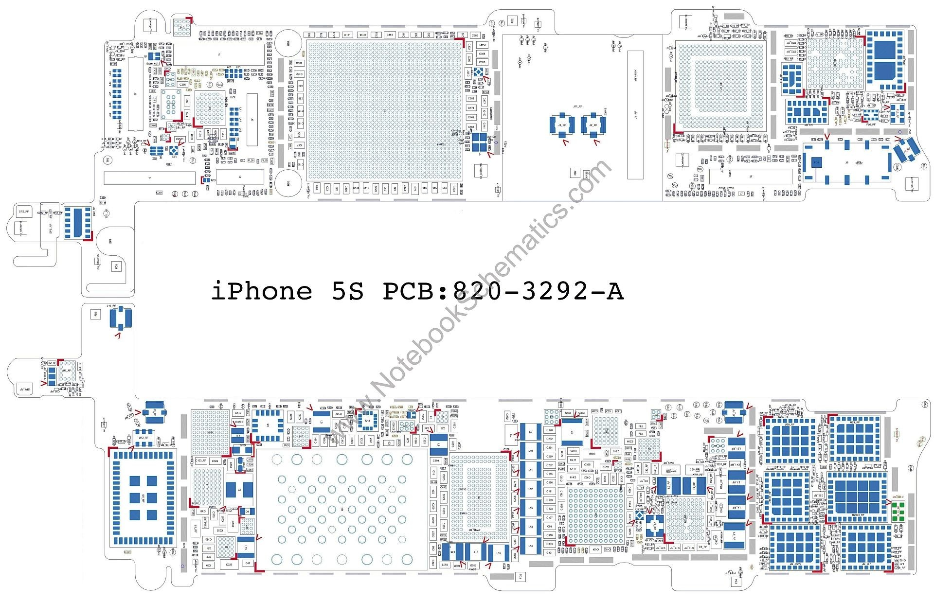 iPhone 5 Internal Structure Diagram