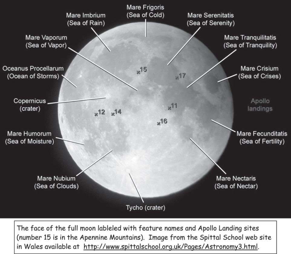 Moon Anatomy Diagram