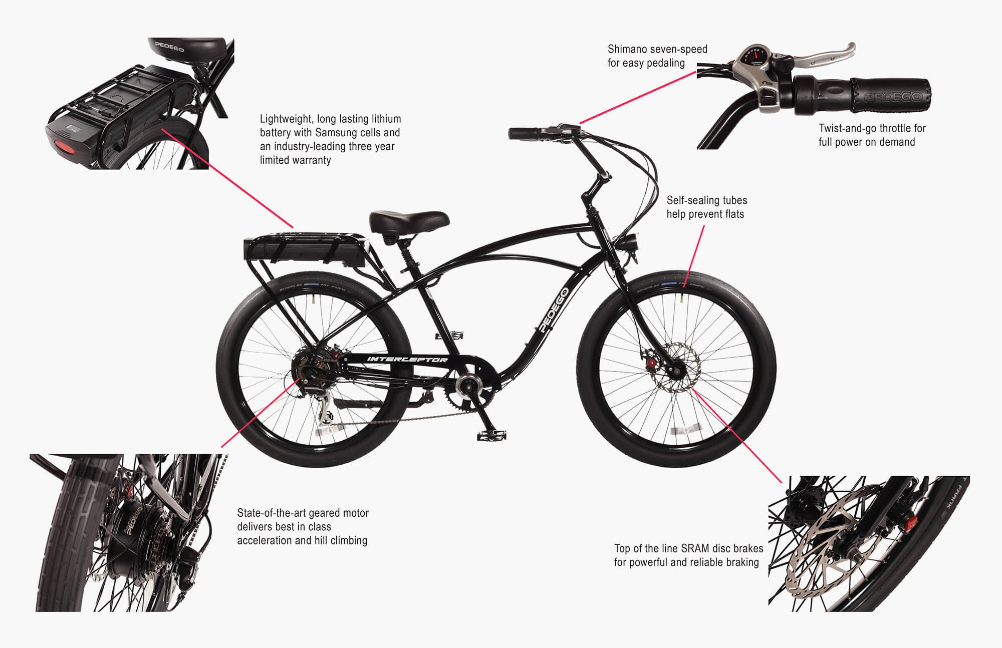 Pedego Interceptor Bicycle Diagram