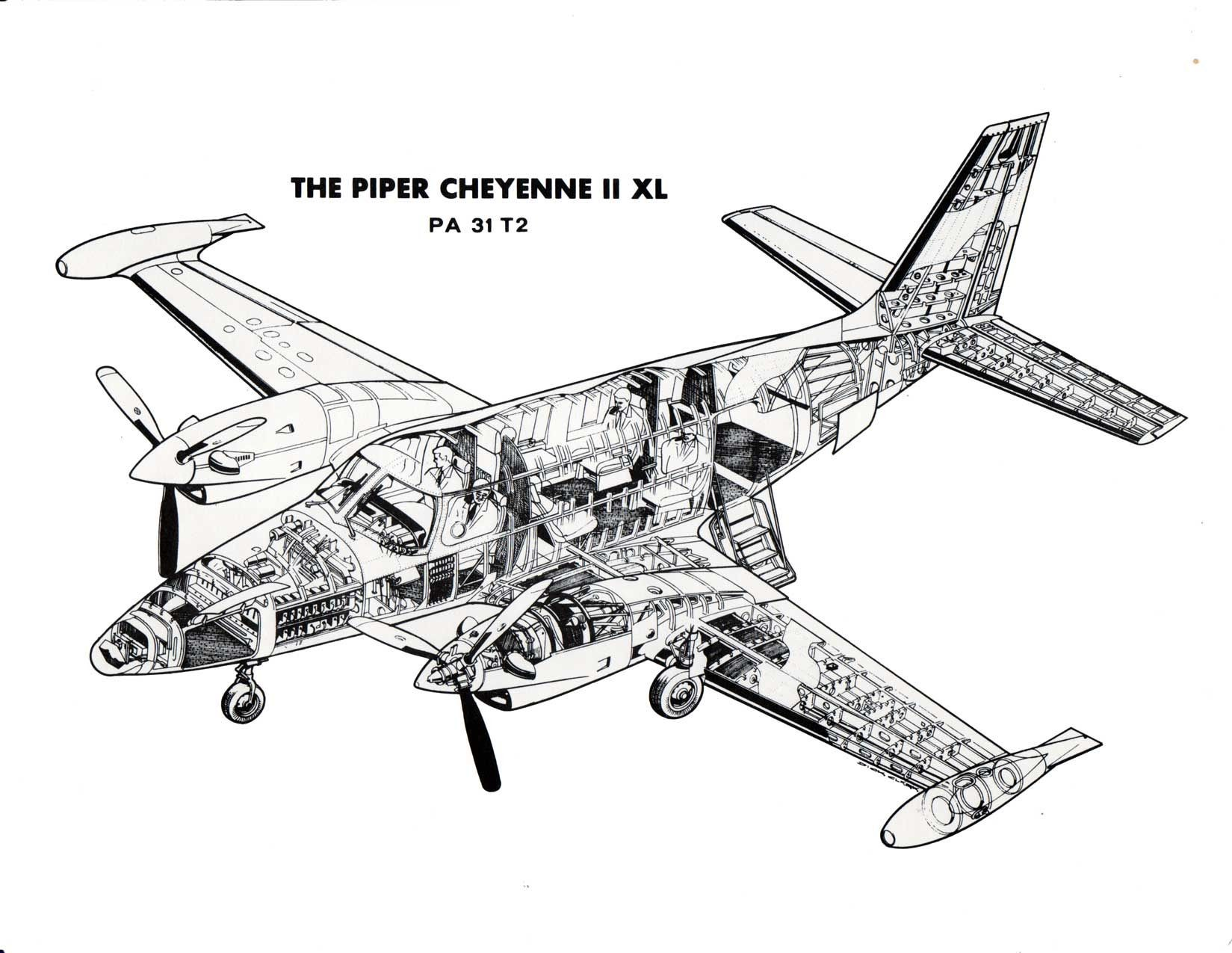The Piper Cheyenne Ii Xl Plane Structure