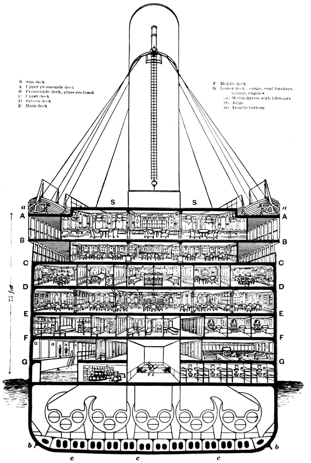 Titanic Sectional Structure Diagram