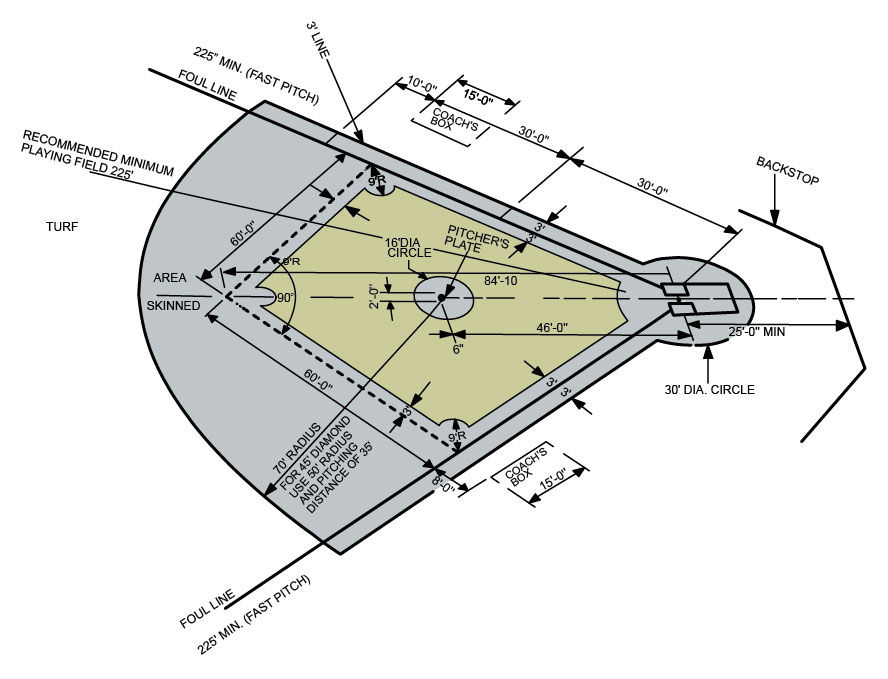 Baseball Diamond Anatomical Structure