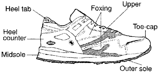 Running Shoe Lateral View