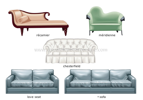 Different Chairs Type sofa love seat meridienne chesterfield recamier