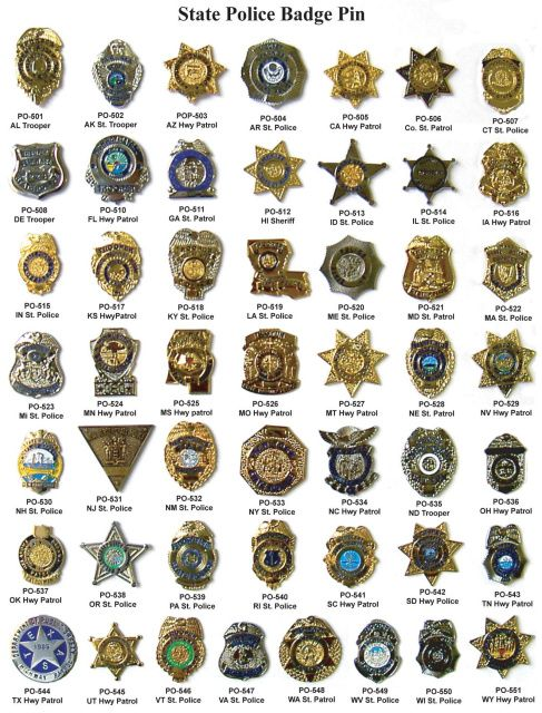 State Police Badge Pin Diagram