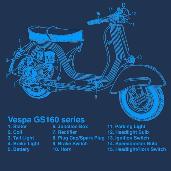 Vespa Scooter Structure