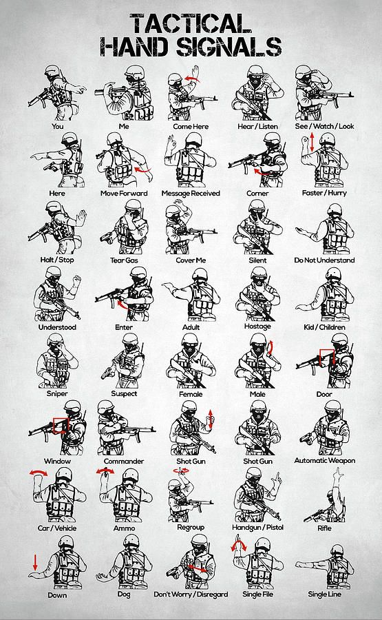 Tactical Hand Signals Diagram