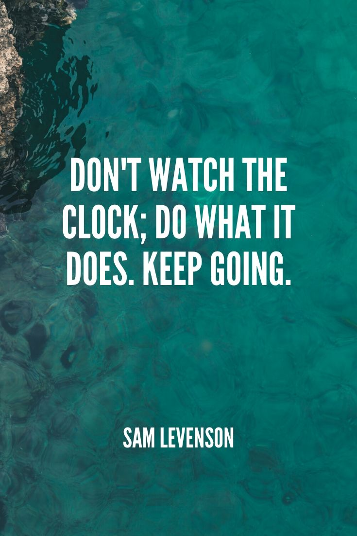 'don't Watch The Clock; Do What It Does. Keep Going.' -sam Levenson