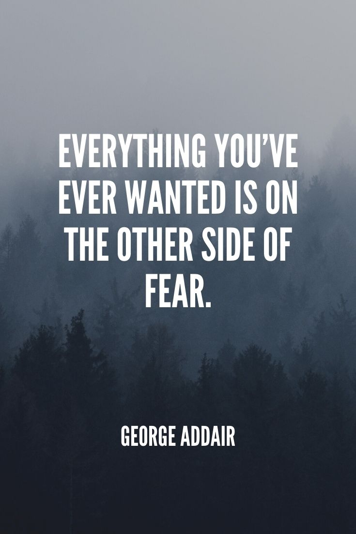 'everything You've Ever Wanted Is On The Other Side Of Fear.' -george Addair