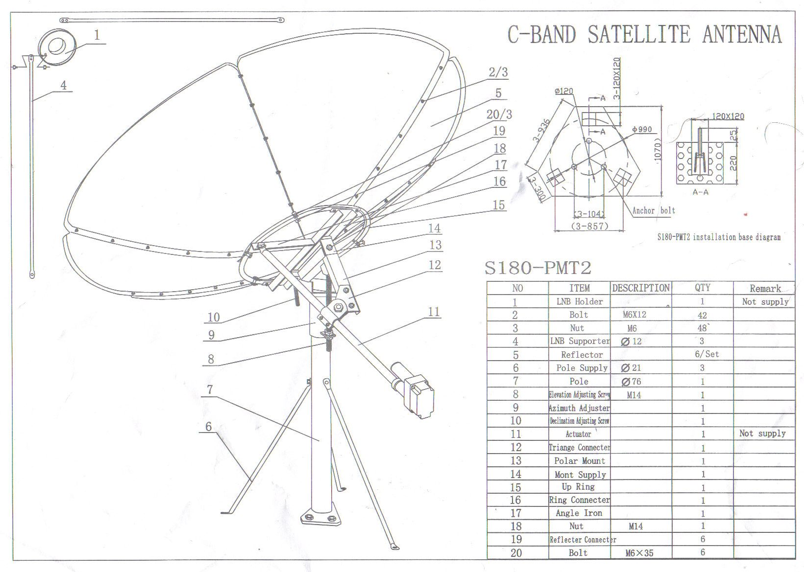 Satellite Dish Antenna Structure