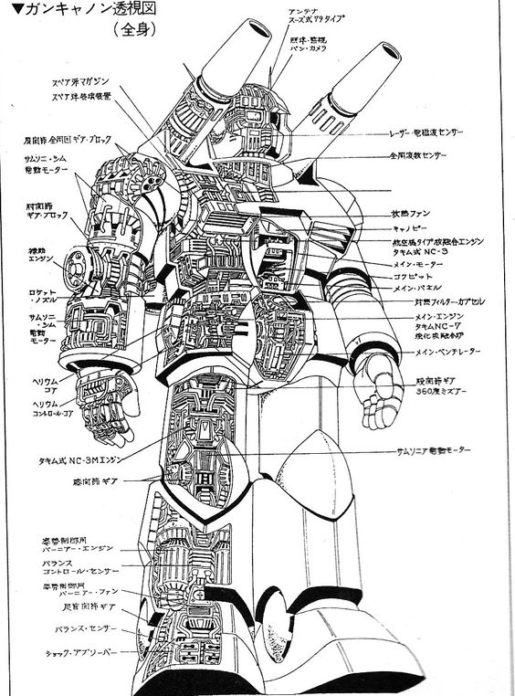 Japan Monsters Creatures Robots From Manga 026